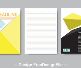 Letter paper and brochure cover vector