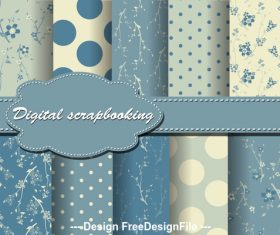 Lightsteelblue flowers seamless pattern vector