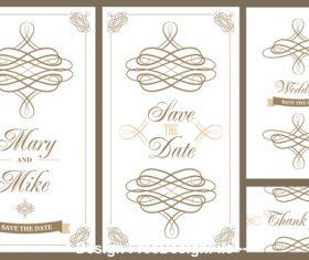 Line background wedding invitation card vector