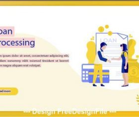 Loan processing business concept vector