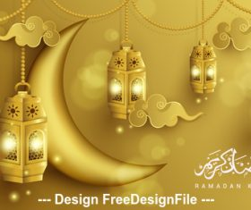 Luxury Ramadan Kareem design illustration vector