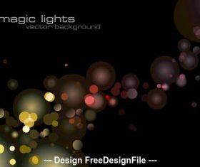Magic lights background vector