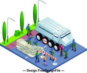 Military martial law cartoon vector