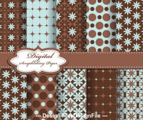 Mixed color seamless floral pattern vector