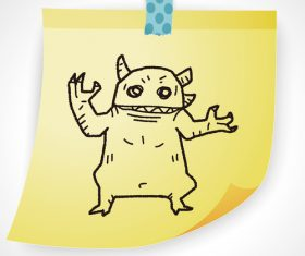Monster creative doodle vector