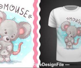 Mouse cartoon illustration pattern vector