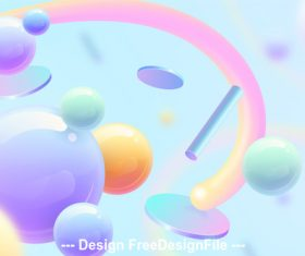 Multicolored sphere abstract background vector