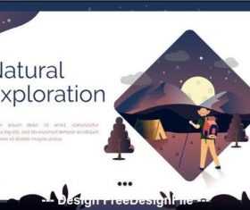 Natural exploration cartoon illustration vector