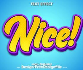 Nice editable font effect text vector
