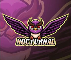 Nocturnal logo design vector