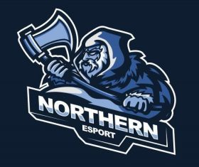 Northern gaming logo vector