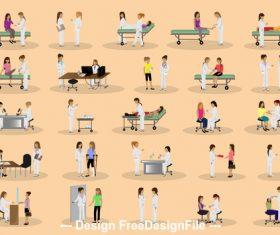 Nursing cartoon illustration vector