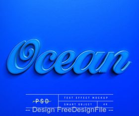Ocean text Effect Photoshop Styles