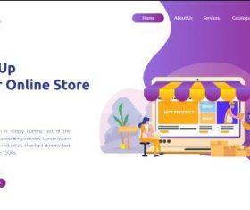 Online store website vector