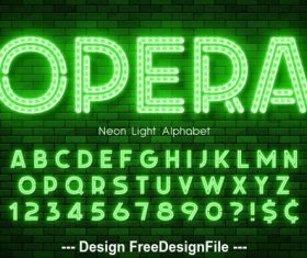 Opera editable font effect text vector