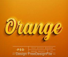 Orange text Effect Photoshop Styles
