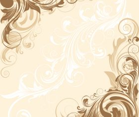 Ornament brown background vector