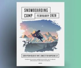 Outdoor sports poster design vector
