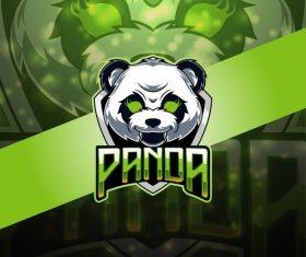 Panda gaming logo vector