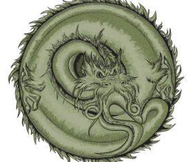 Panlong illustration vector