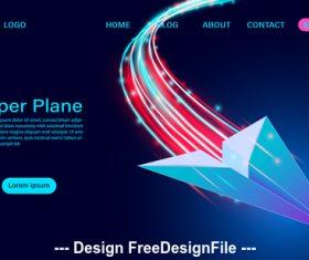 Paper plane banner vector