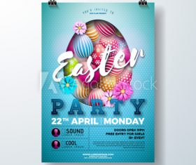 Party poster easter vector