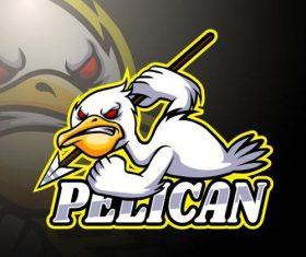 Pelican logo design vector