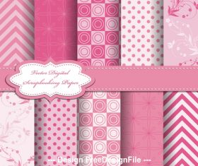 Pink seamless bright pattern vector