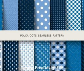 Polka dot seamless pattern vector on blue background