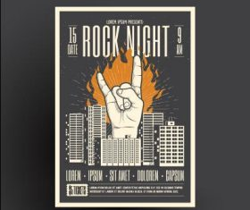Poster flyer design rock vector