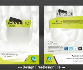 Prismatic brochure cover vector