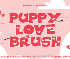 Puppy Love Brush Fonts