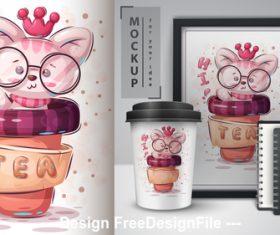 RAT merchandising mockup print vector