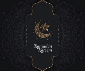Ramadan Kareem Mosque pattern vector