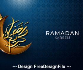 Ramadan Kareem crescent background vector