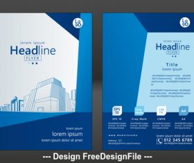 Real estate brochure cover vector