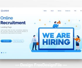 Recruitment flat illustration vector
