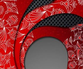 Red and black abstract background vector