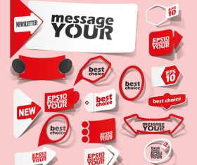 Red sale sticker vector