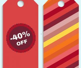 Red tag template vector