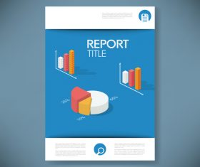 Report cover vector