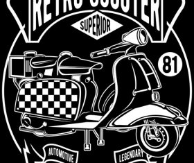 Retro scooter poster vector