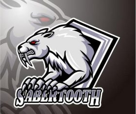 Sabertooth logo design vector
