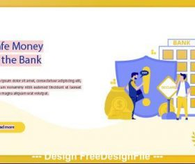 Safe money at the bank business concept vector