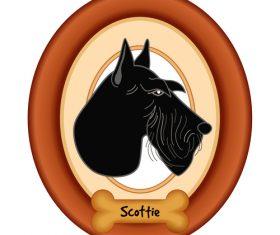 Scottie portrait vector