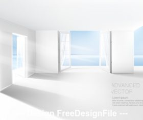 Sea view room vector
