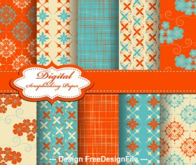 Seamless bright color pattern vector