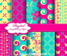Seamless bright pattern vector