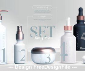 Series cosmetics ad template vector