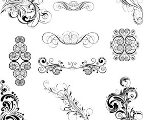 Set of different style ornaments vector